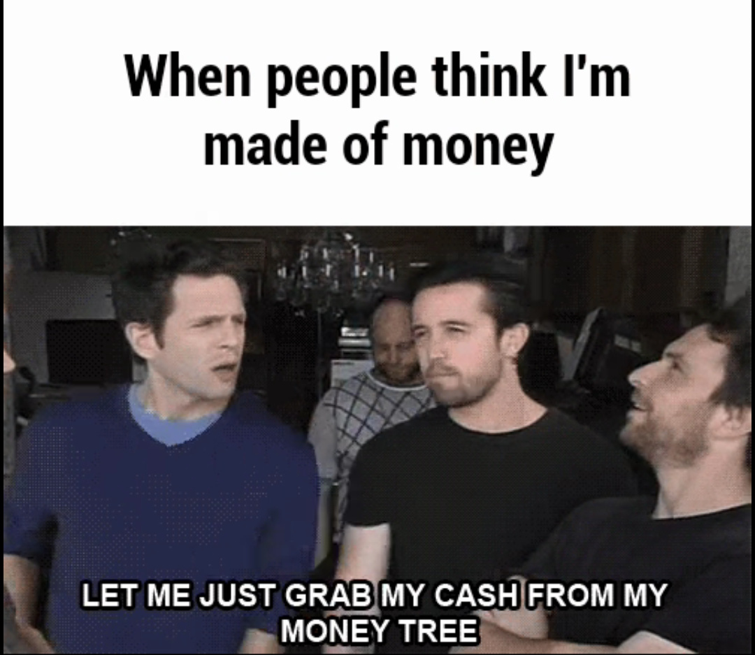 I think I might have like 4 bucks under my couch. - meme