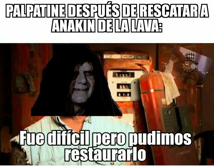 Mientras tanto Anakin se está cargando en Obi-Wan :yaoming: - meme