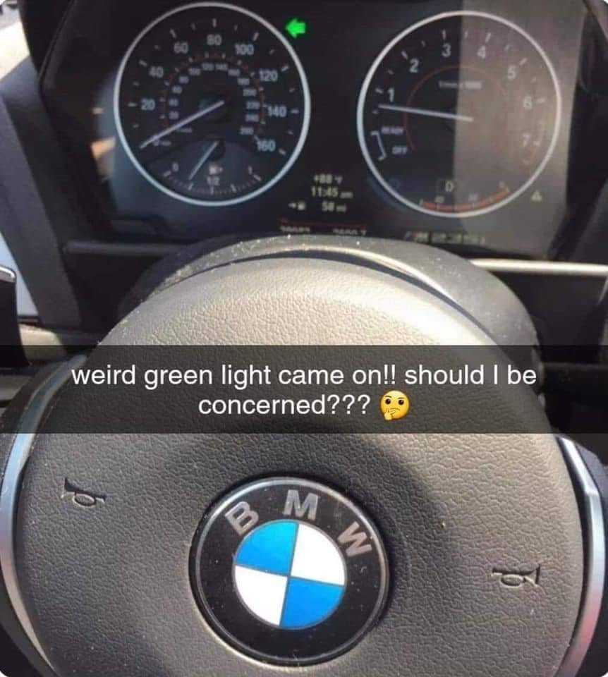 Weird green light - meme