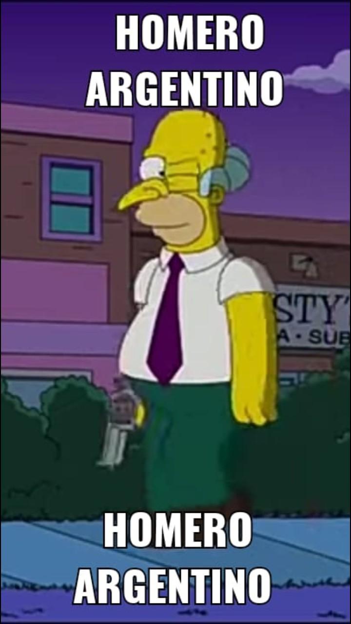 Homero argentino - meme