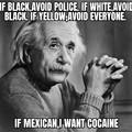 Doing lines with Einstein!