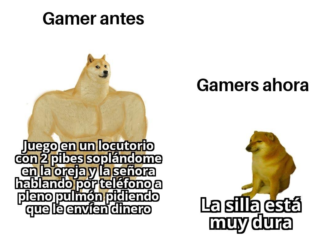 Gamers antes - meme