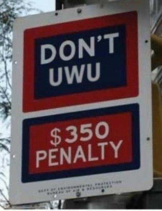 Don't UWU, multa de $350 - meme