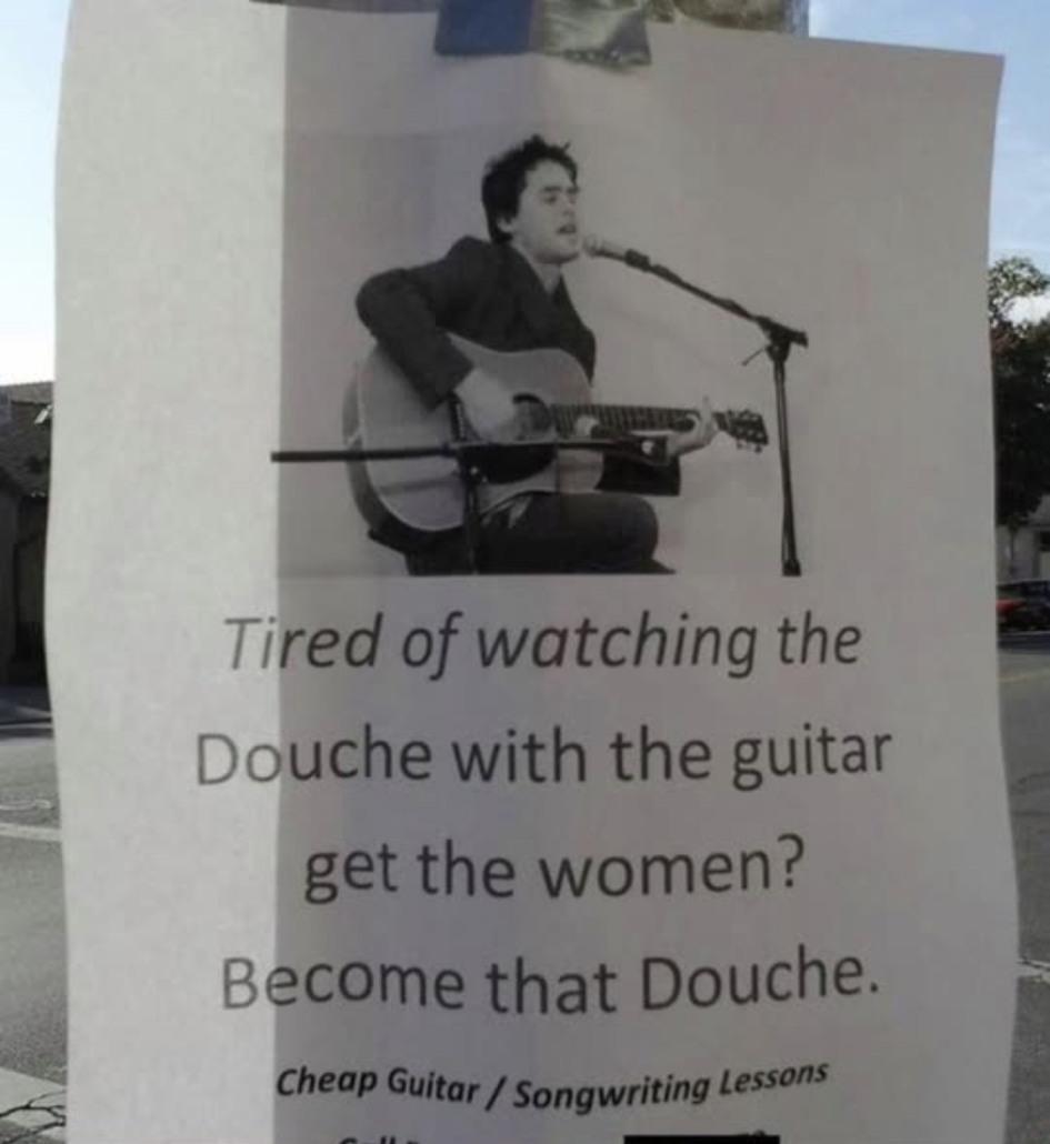 Guitar douche - meme