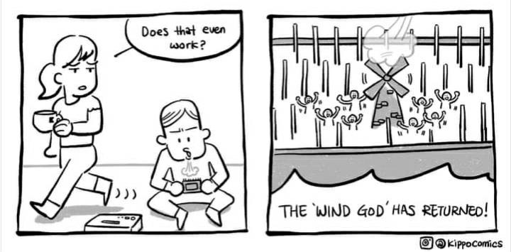 Never underestimate the power of the WIND GOD - meme