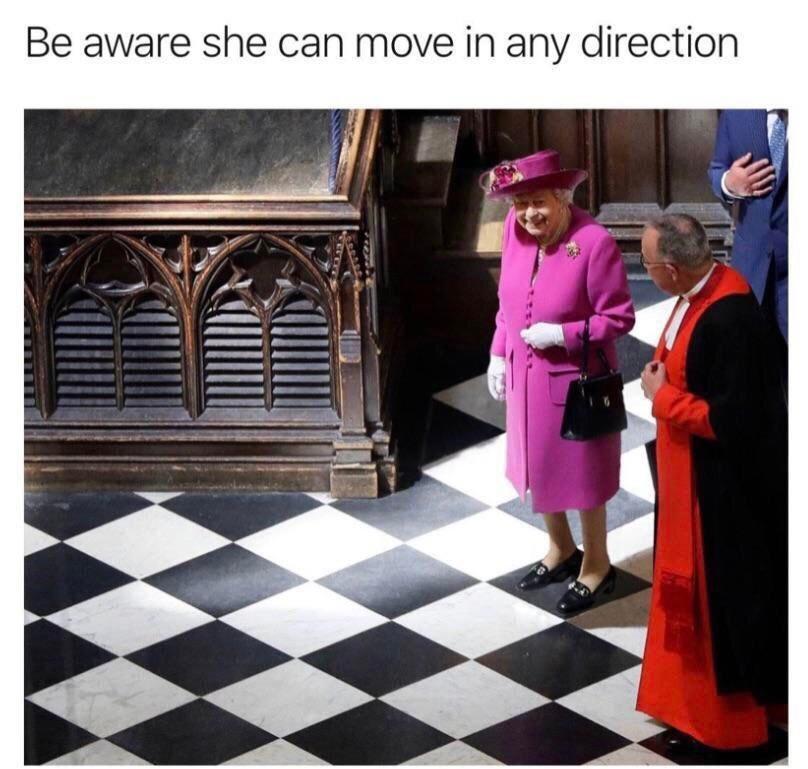 La reine est plus forte que le roi, fin du débat - meme