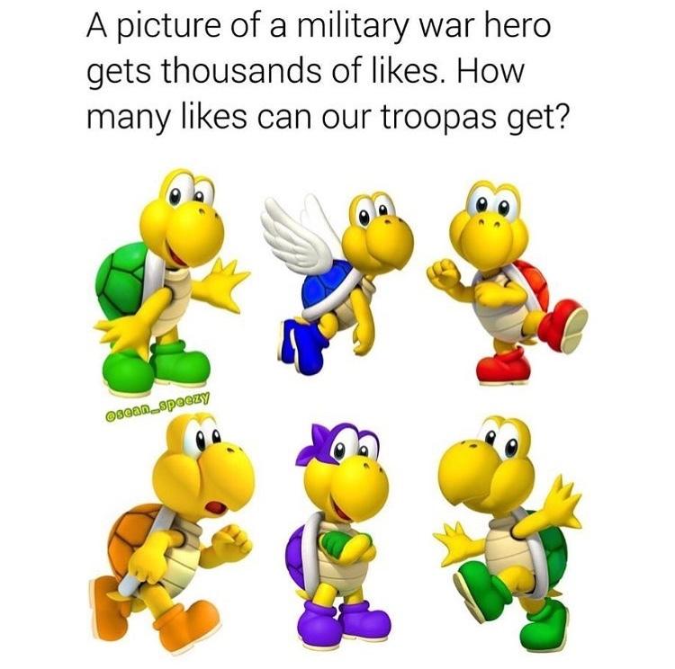 rip troopas - meme