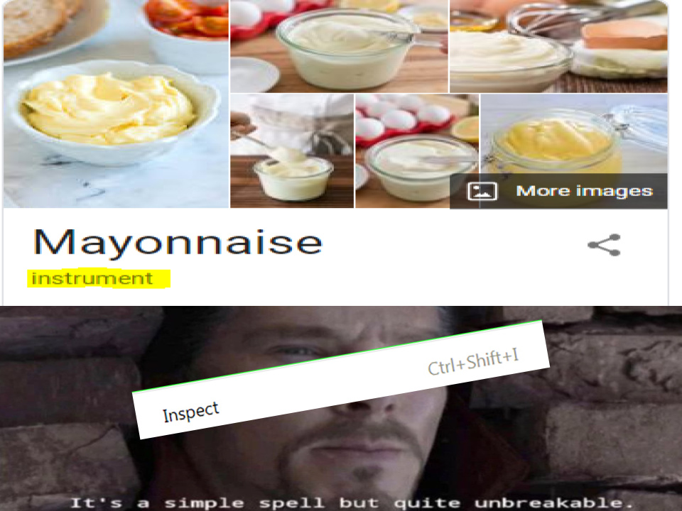 Is MAyONnAiSE A INstRuMENt? - meme