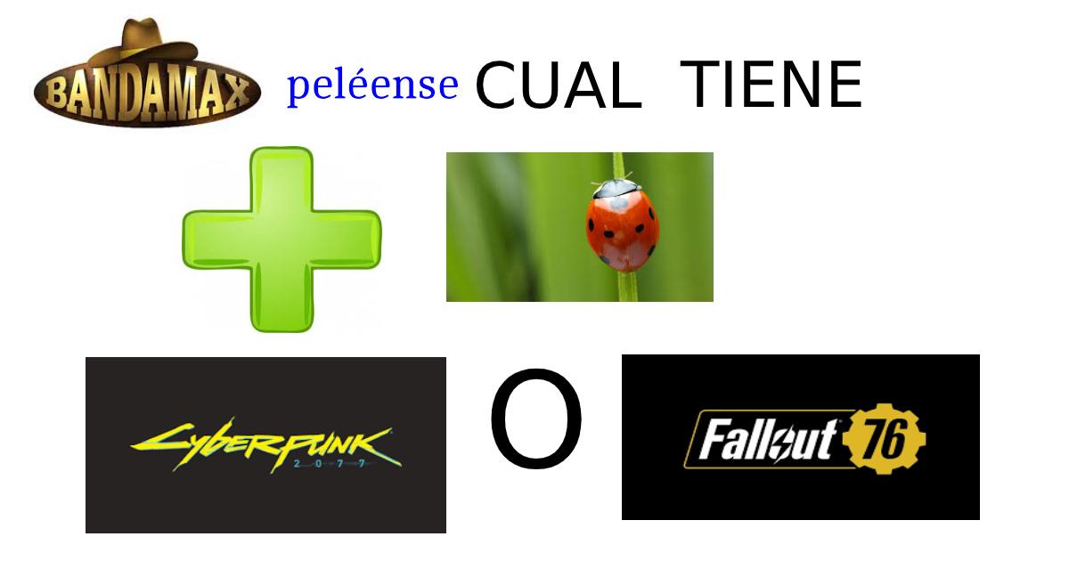 banda peléense cual tiene mas bugs el cyberpunk o el fallout76 - meme