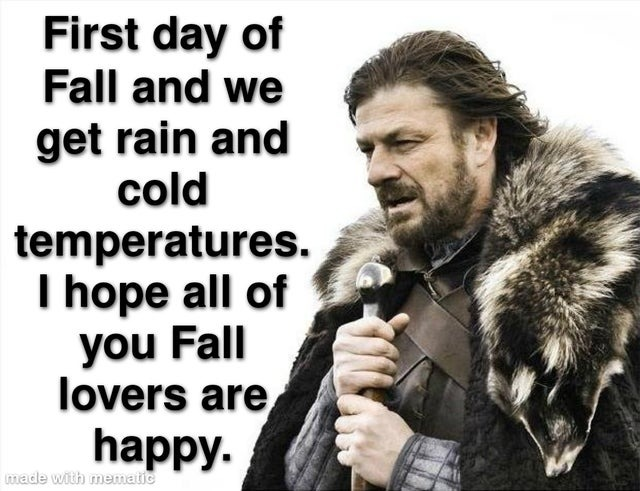Happy first day of fall! - meme