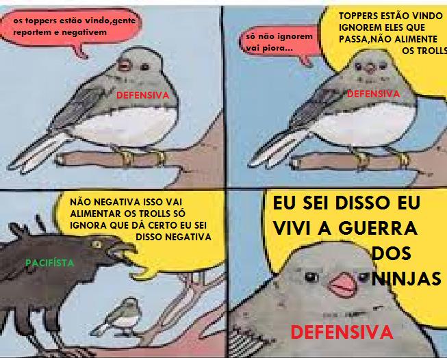 PACIFISTA NEM É GENTE - meme