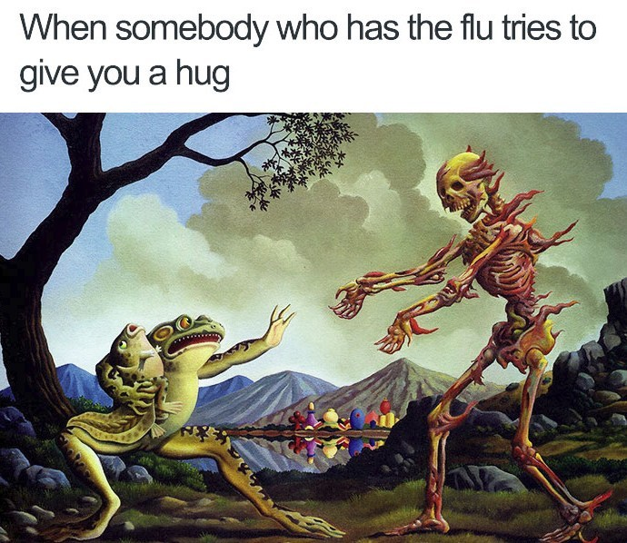 replace flu with covid 19 - meme