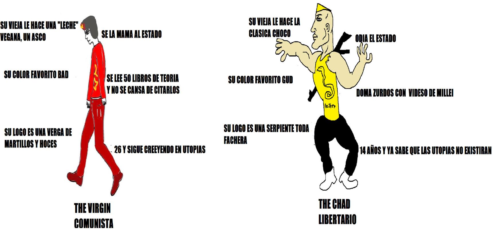 Comumierda vs Liberchad - meme