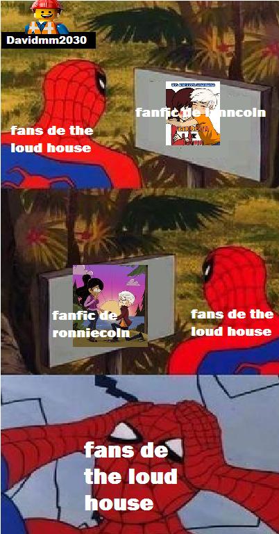 fans de the loud house eligiendo que fanfics es mejor - meme