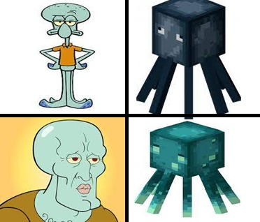 Calamardo y calamar - meme