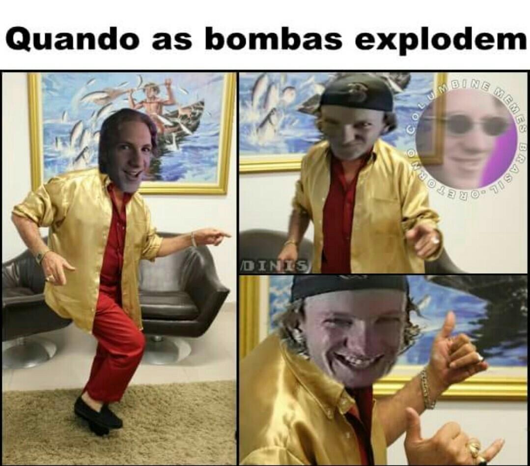 Aí vc morre por causa da bomba - meme