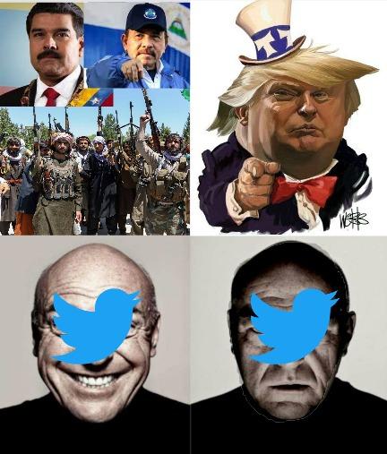 talibanes y dictadores si, trumpeta no - meme