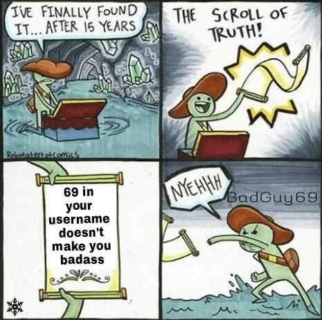 69UserNameX - meme
