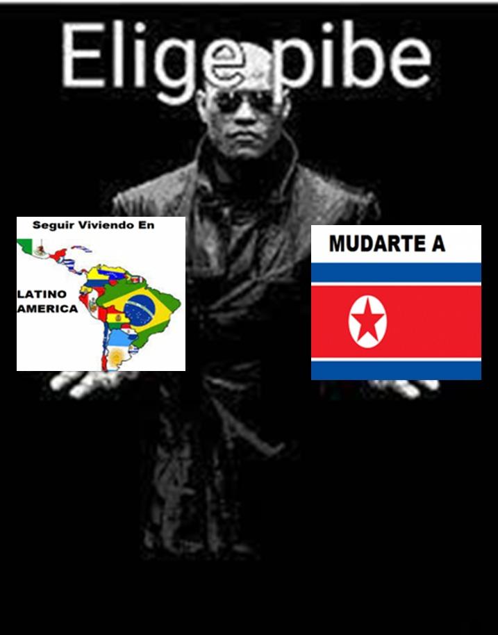 Supongamos que todo el mundo fue destruido por ataques alienigenas y los unicos lugares para vivir son latinoamerica y corea del norte ¿En donde te irias a vivir? - meme