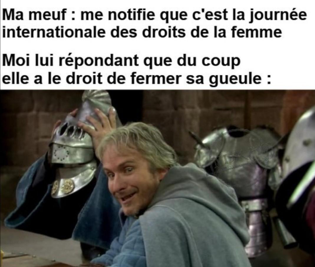 *rire de droite* - meme