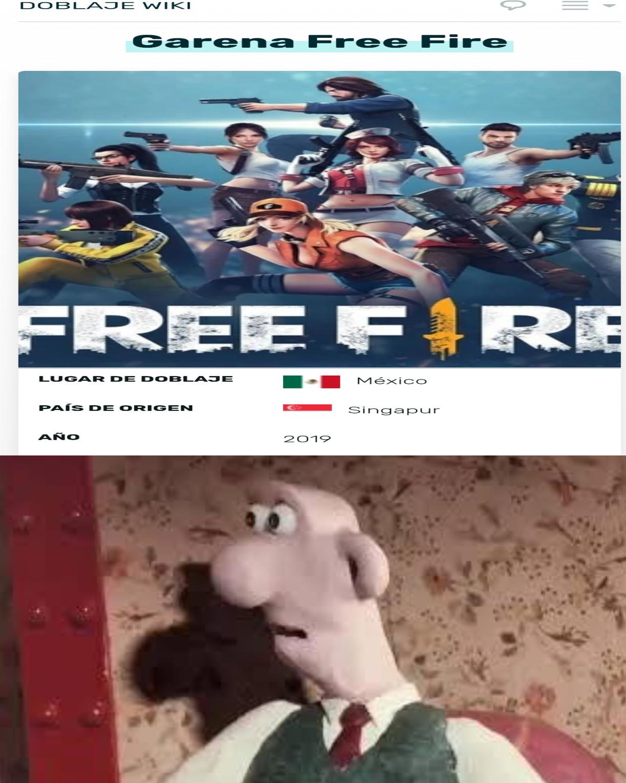 Free fire tiene DOBLAJE LATINO,lo sabías? - meme