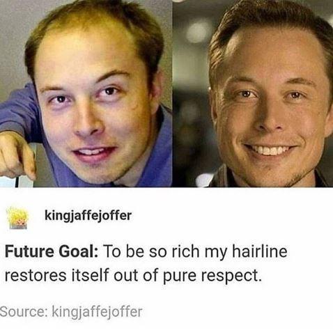 Elon ages in reverse. - meme