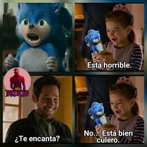 Sonic es un espanto Dios - meme