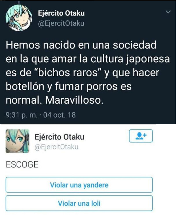 Otaku en japonés se usa despectivamente hacia la gente con hábitos obsesivos. - meme