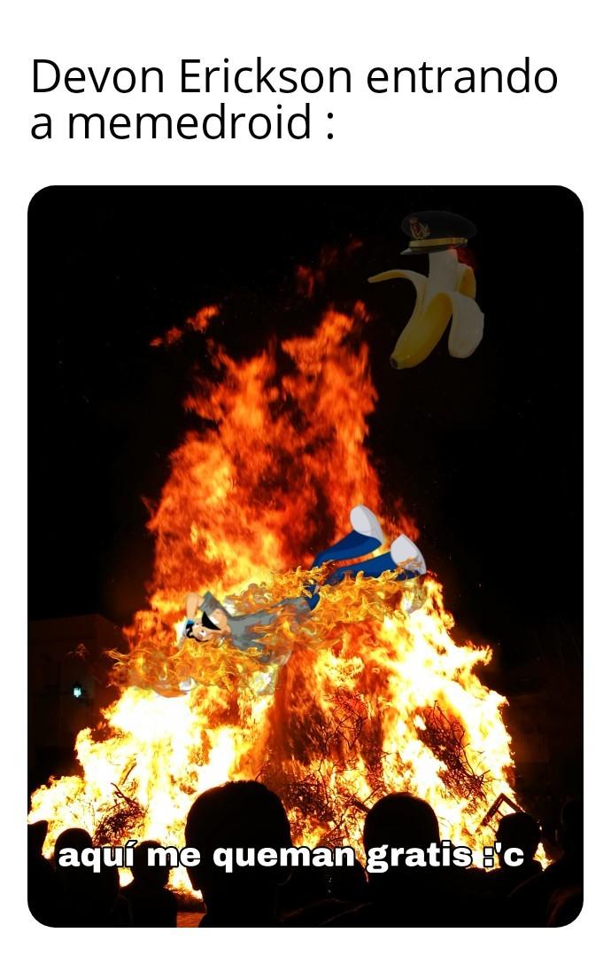 Lo quemaron en todos los sentidos - meme