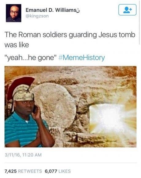 Jesus gone - meme