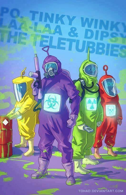 Nucular Teletubbies sounds like a metal band - meme