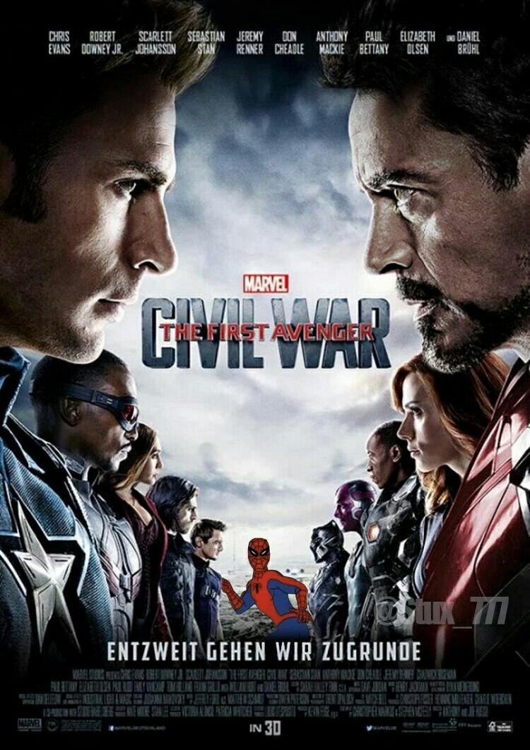 Novo poster da guerra civil com homi aranho - meme