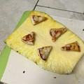 Piña con pizza
