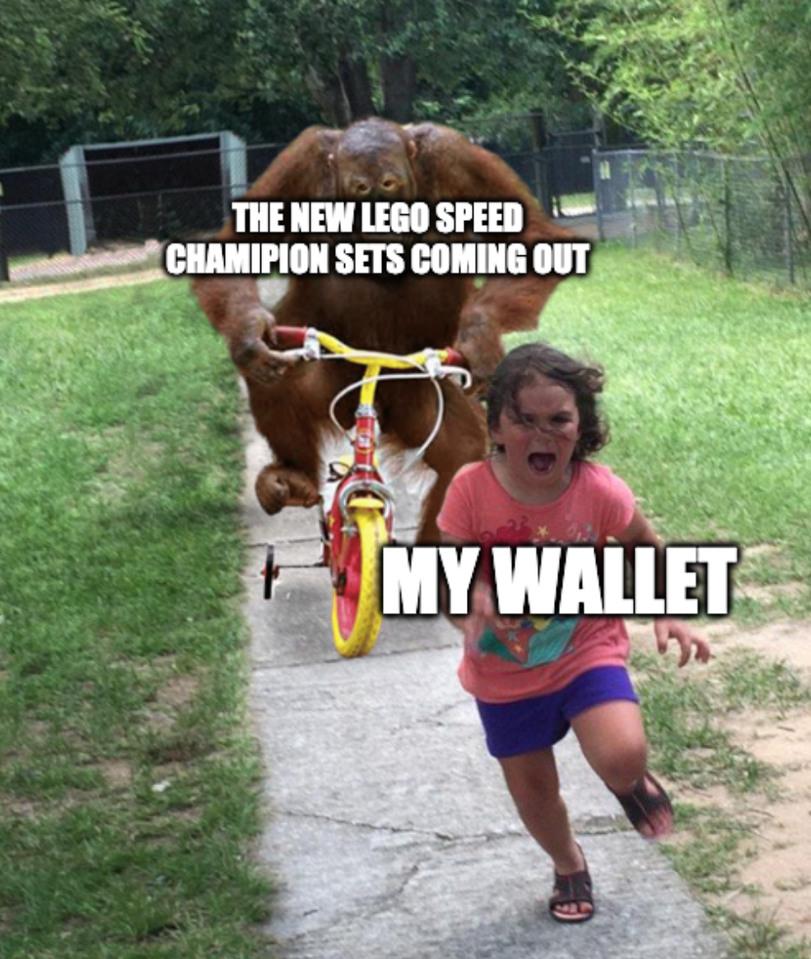 I love legos, especially the speed champions - meme