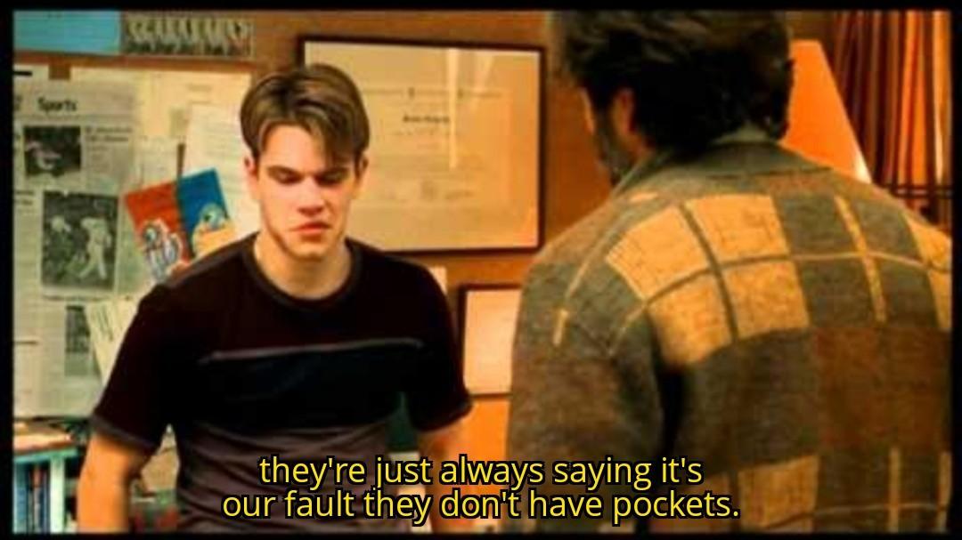 Have pockets, please. - meme