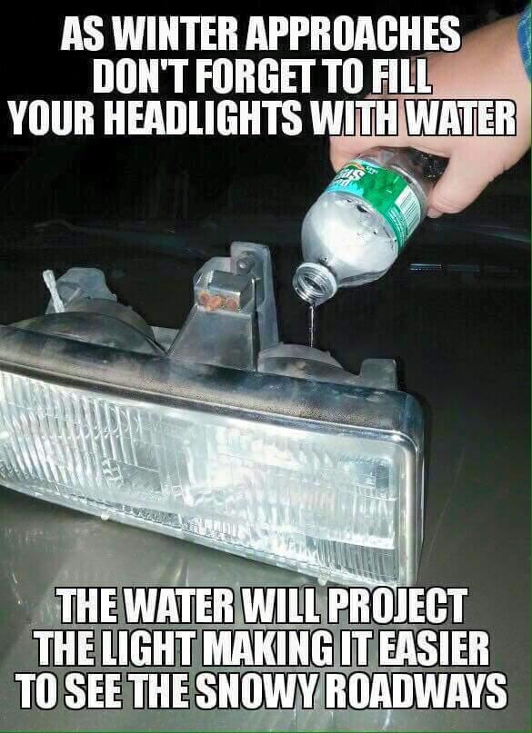 Don't forget to change blinker fluid too - meme