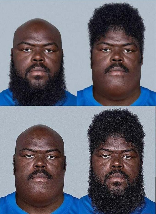 This guy's beard fits everywhere - meme
