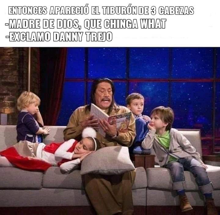 Jeje EL ATAQUE DEL TIBURÓN DE TRES CABEZAS - meme