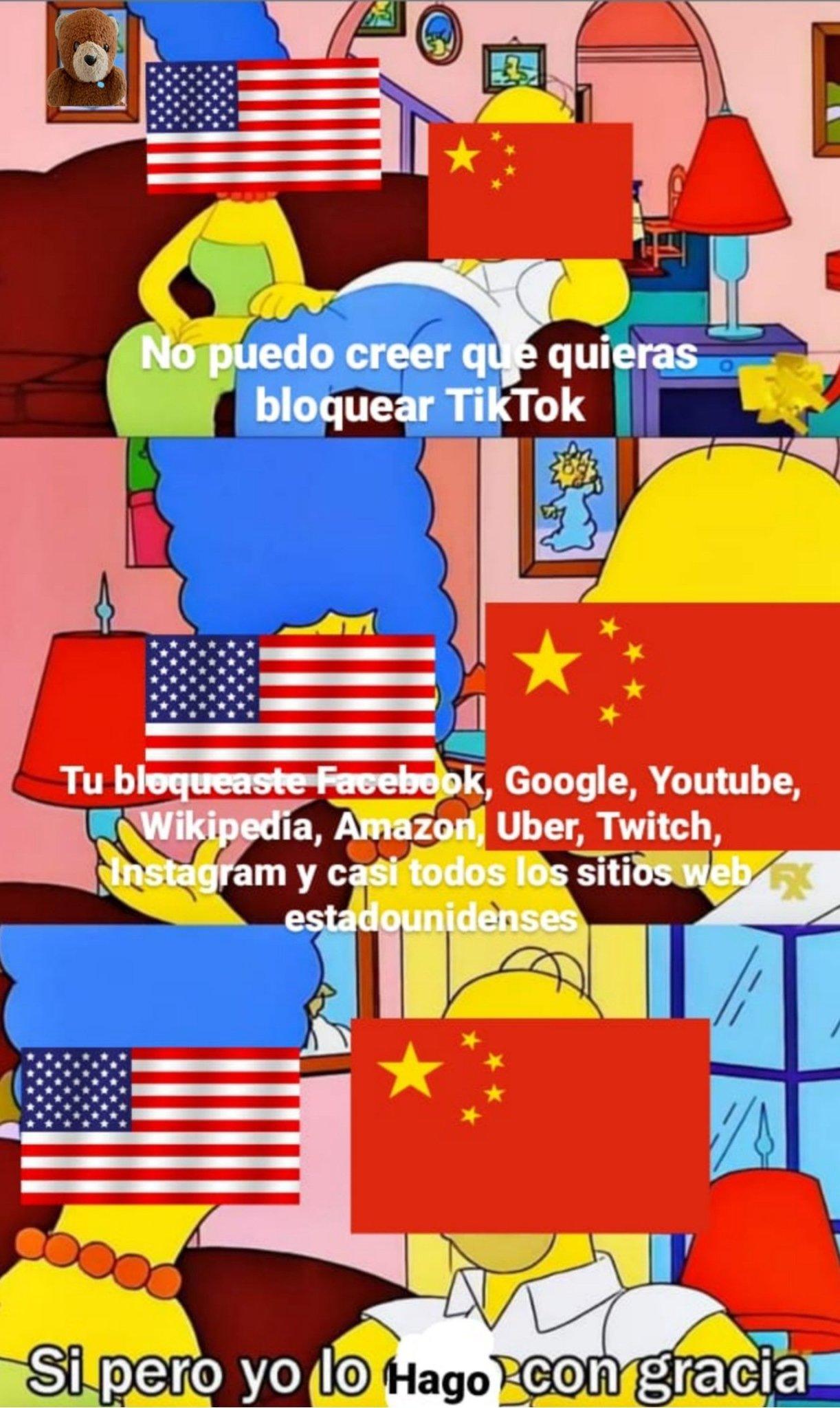 China hipocrita - meme