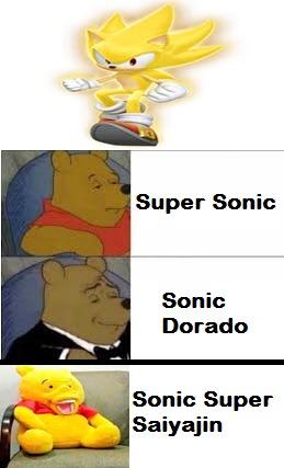 Lo admito yo le llame Super Saiyajin a ese Sonic - meme
