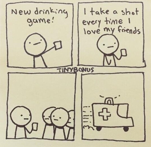 alcohol poisoning made wholesome - meme