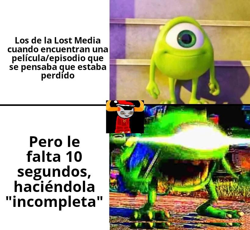 La Lost Media es todo aquel material perdido, y que es buscado por varias personas en Internet - meme