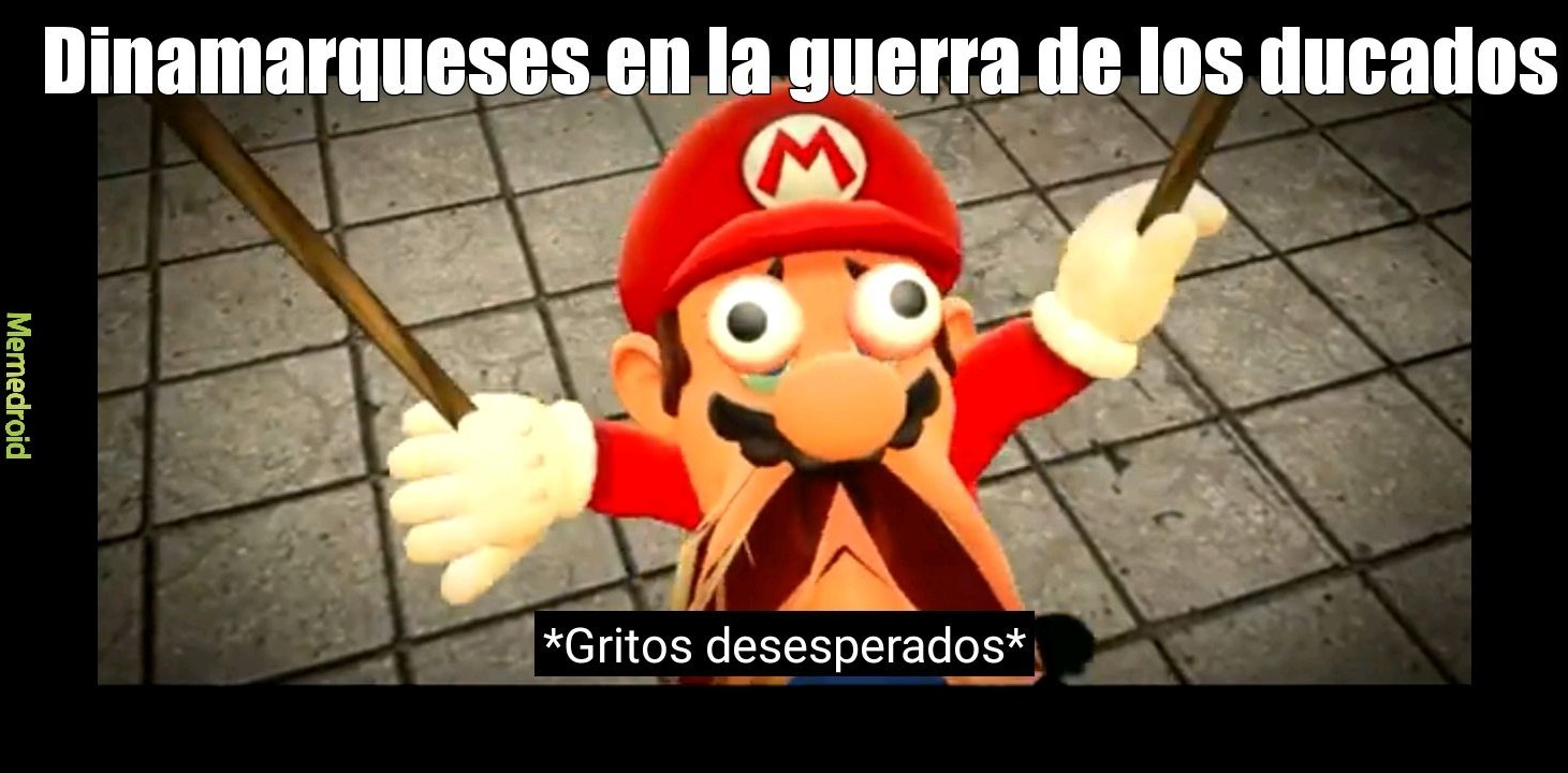 Mario screaming - meme