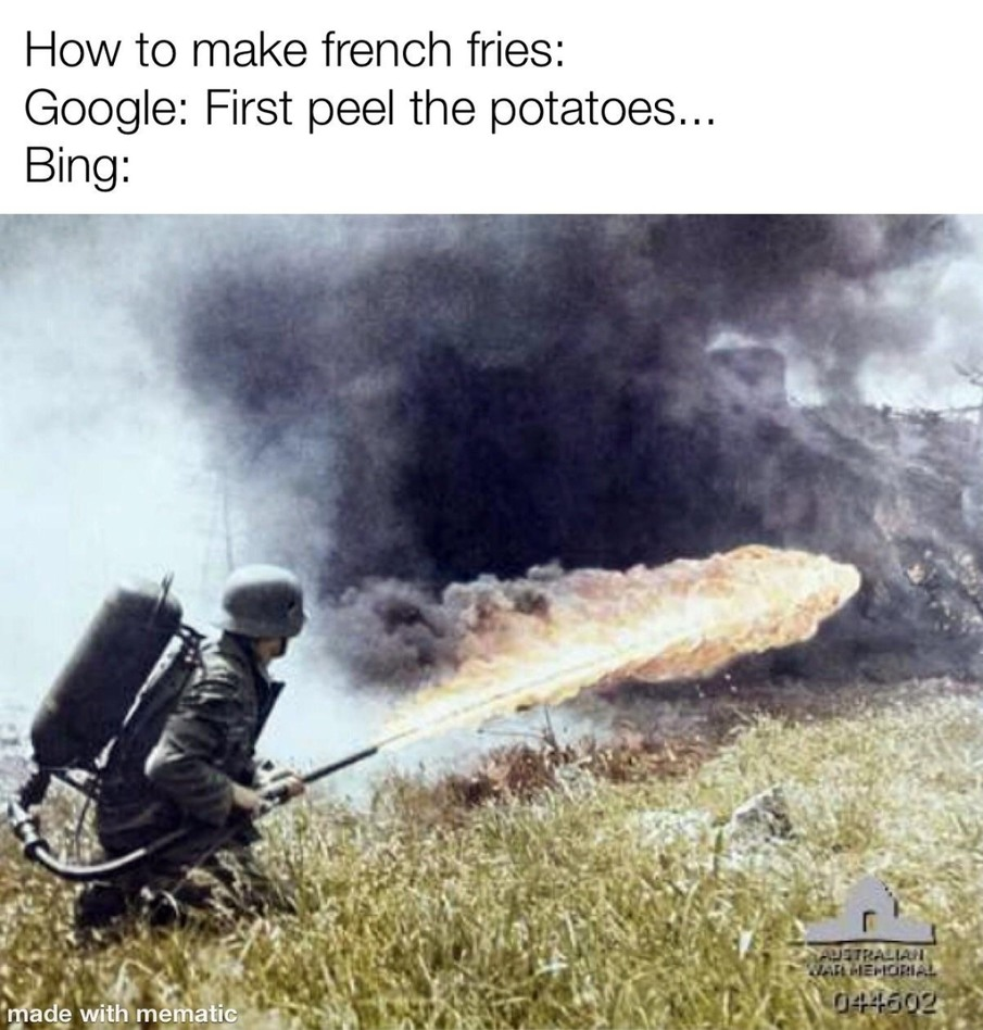 First French fries in the world - meme