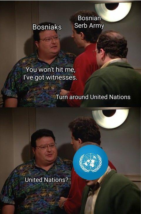 Srebrenica vibes - meme