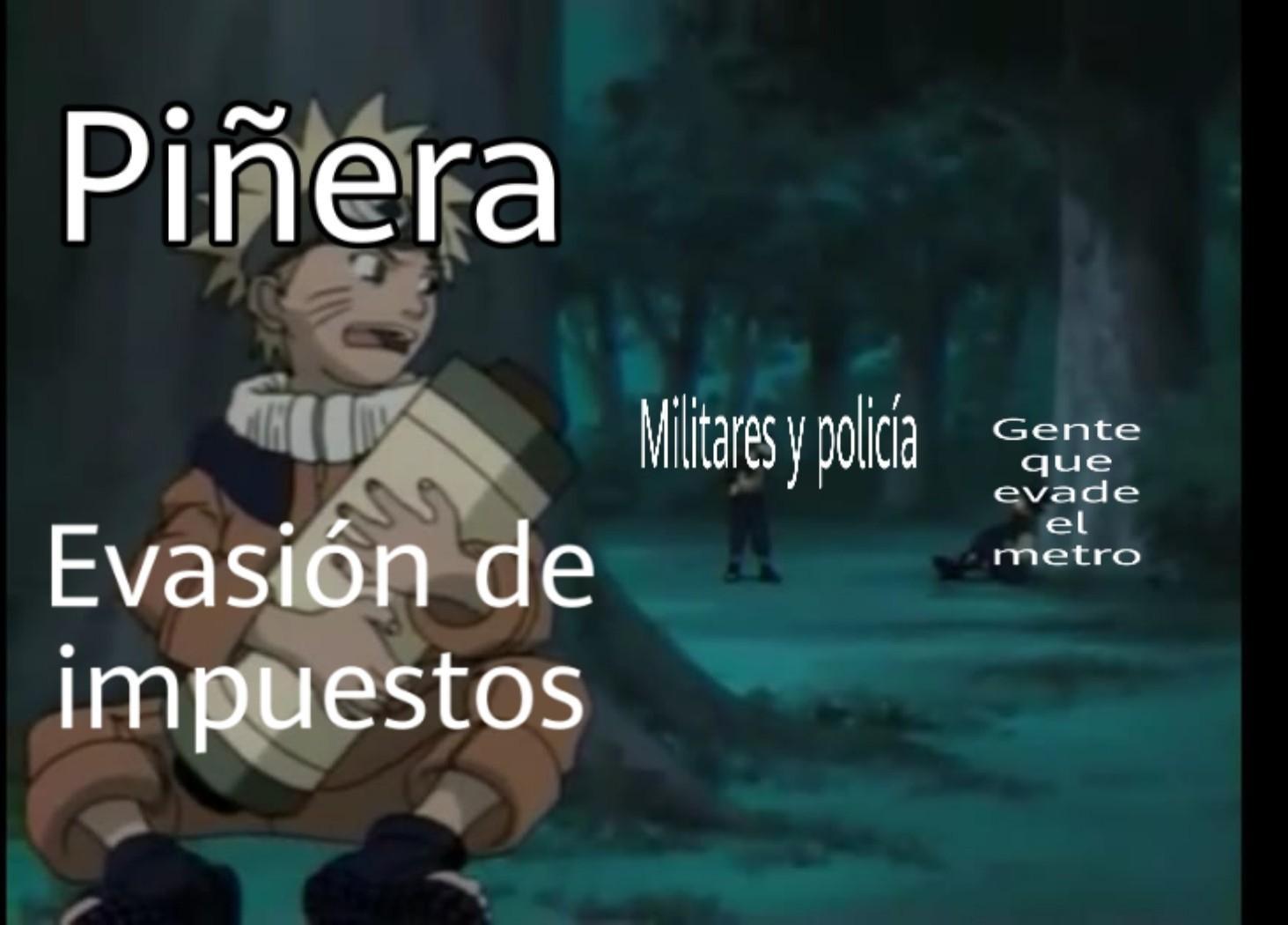 Abajo piñera - meme