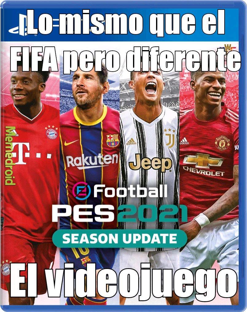 El FIFA pero con pocas licencias - meme