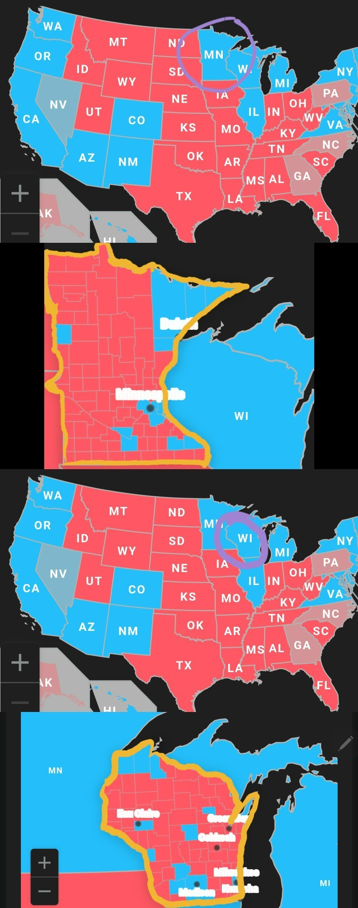 so All The Red Means Blue Wins? - meme