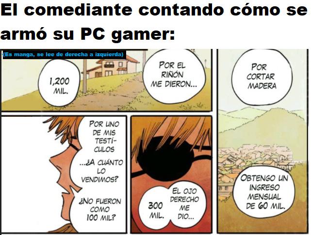 Seguramente se hablará más de los precios de una PC gamer buena que de el hecho de que sea un meme de manga.