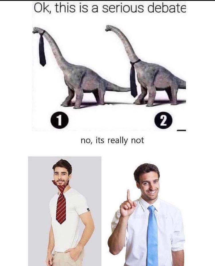 dinosaur tie - meme